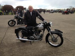 Ron with his ES2 at East Kirby in April